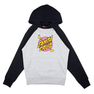 Youth Crossbone Dot Raglan Hood