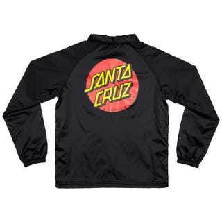 Santa Cruz Classic Dot Black Coach Jacket
