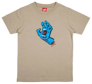 Santa Cruz Screaming Hand Youth T-Shirt Light Olive