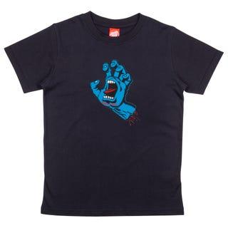 Santa Cruz Screaming Hand Youth T-Shirt Black