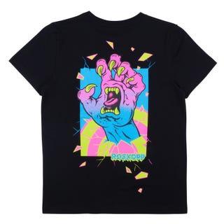 Santa Cruz Youth Roskopp Frame Hand T-Shirt Black