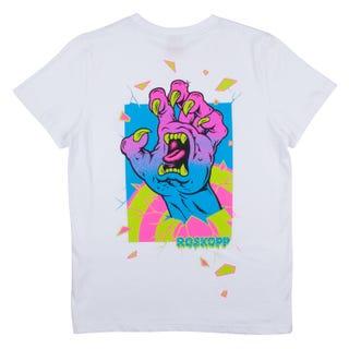 Santa Cruz Youth Roskopp Frame Hand T-Shirt White