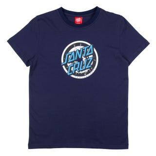 Santa Cruz Youth Rob Target T-Shirt Dark Navy