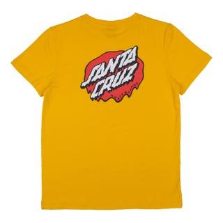 Santa Cruz Youth Melting Dot T-Shirt Mustard