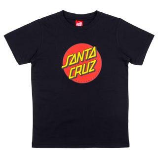 Santa Cruz Youth Classic Dot T-Shirt Black