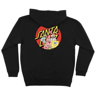 Santa Cruz Clothing UK & Europe - SpongeBob Group Hood Black