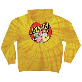 Santa Cruz Clothing UK & Europe - SpongeBob Group Hood Yellow