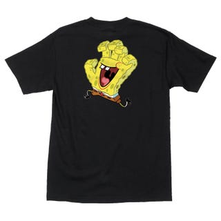 Santa Cruz SpongeBob Hand T-Shirt Black