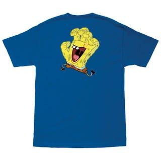 Santa Cruz SpongeBob Hand T-Shirt Blue