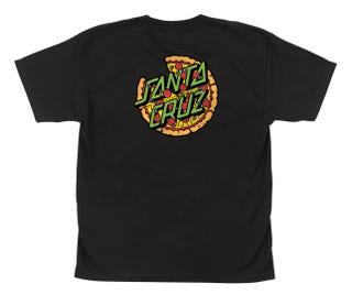 Santa Cruz TMNT Pizza Dot T-Shirt Black
