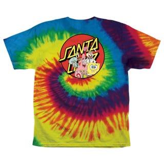 Santa Cruz Europe - SpongeBob Group Youth T-Shirt Rainbow