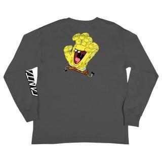 Santa Cruz SpongeBob Hand Youth T-Shirt Grey