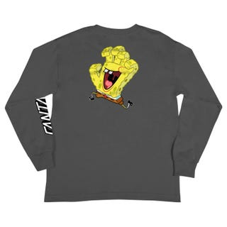 Santa Cruz SpongeBob Hand Youth T-Shirt Grey