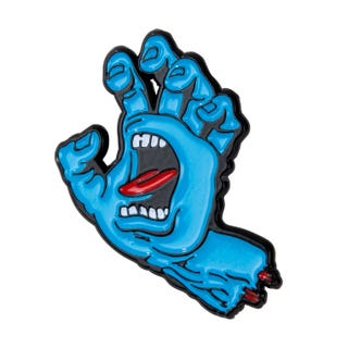 Santa Cruz Screaming Hand Pin Blue