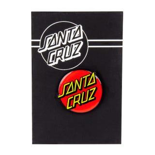 Santa Cruz Classic Dot Pin Badge Red