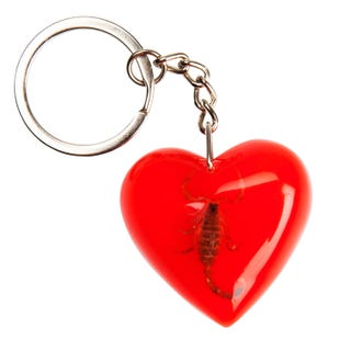 Santa Cruz Poison Heart Keychain Red