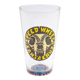 Santa Cruz SW Skull Pint Glass