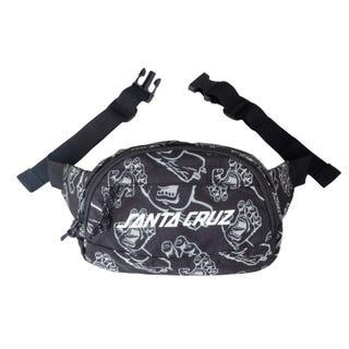 Santa Cruz Data Waistpack Bag Black Hands All-over Design