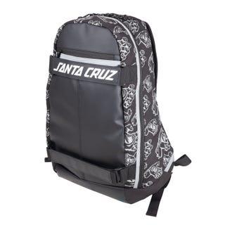 Santa Cruz Dispatch Skatepack Black All-over Hands design