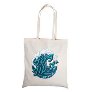 Santa Cruz Japanese Wave Dot Tote Bag Natural