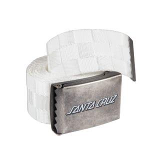 Santa Cruz Classic Strip Check Belt White