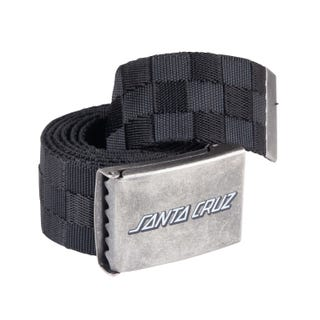 Santa Cruz Classic Strip Check Belt Black