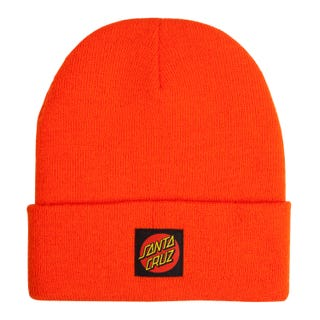 Santa Cruz Classic Label Dot Beanie Warm Orange