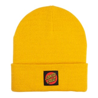 Santa Cruz Classic Label Beanie Mustard