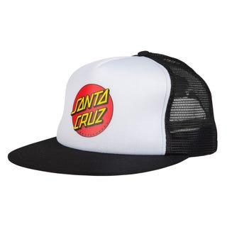 Santa Cruz Classic Dot Mesh Cap White/Black
