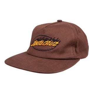 Santa Cruz Oval Flame Dot Cap Chocolate OS