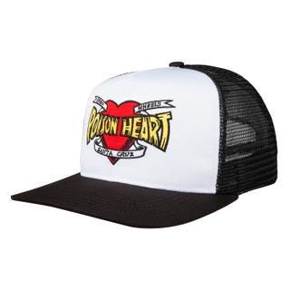 Santa Cruz Poison Heart Cap Black / White / Red O/S