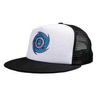 Santa Cruz Speed Wheels Faces Meshback Cap White