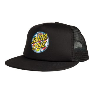 Santa Cruz Jackpot Dot Mesh Back Cap Black