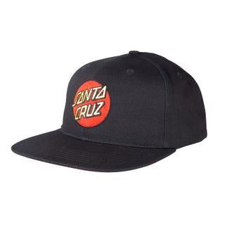 Santa Cruz Classic Dot One Size Snapback Cap Black