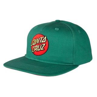 Santa Cruz Classic Dot One Size Snapback Cap Evergreen