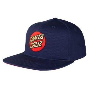 Santa Cruz Classic Dot One Size Snapback Cap Dark Navy