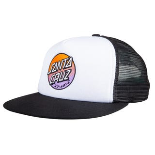 Santa Cruz Mixed Up Dot Fade Mesh Back Cap White / Black