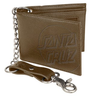 Opus Dot Chain Wallet Brown - Santa Cruz Accessories