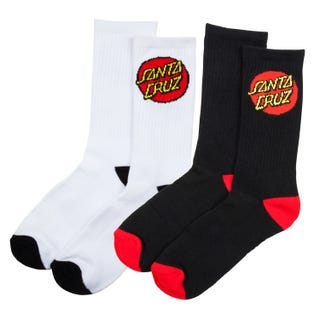 Santa Cruz Socks | Classic Dot Socks (2 Pack) Assorted