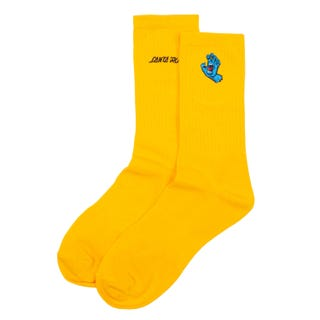 Screaming Hand Socks by Santa Cruz - Mini Hand Gold OSFA