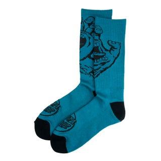 Santa Cruz Screaming Hand Mono Socks Petrol Blue