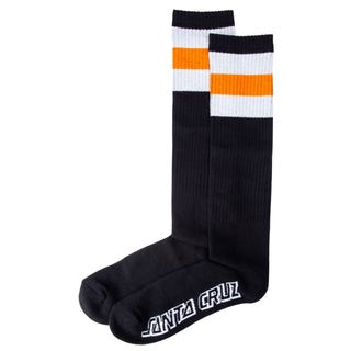 Bench Socks in Black by Santa Cruz