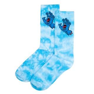 Screaming Hand Tie Dye Sock