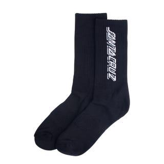 Santa Cruz Contra Strip Socks Black