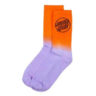 Santa Cruz Bogus Dot Fade Socks Orange/Purple