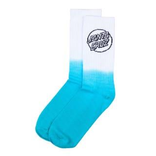 Santa Cruz Bogus Dot Fade Socks White/Aqua