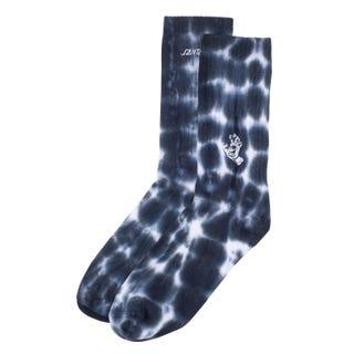 Santa Cruz Mini Mono Hand Tie Dye Sock Black Spiral