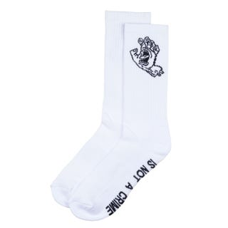 Santa Cruz Crime Hand Socks White