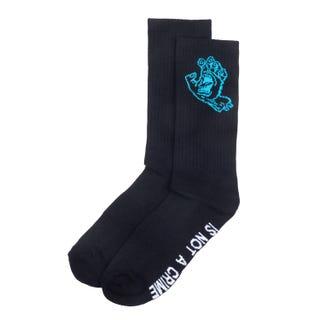 Santa Cruz Crime Hand Socks Black