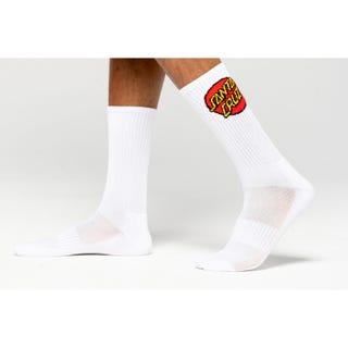 Santa Cruz Dot Socks White